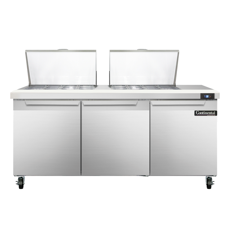 Continental Refrigerator SW72-24M refrigerated counter, mega top sandwich / salad unit