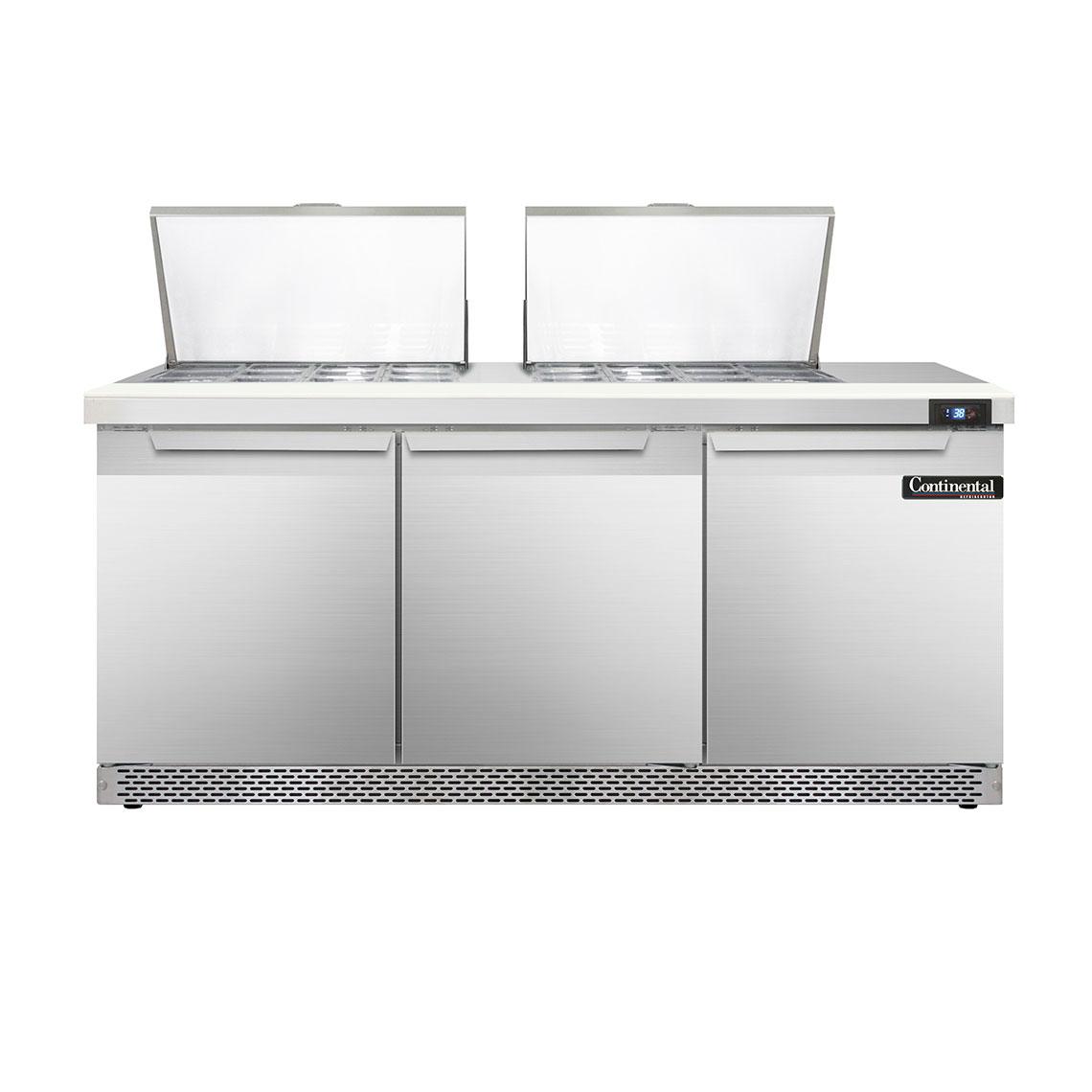 Continental Refrigerator SW72-24M-FB refrigerated counter, mega top sandwich / salad unit