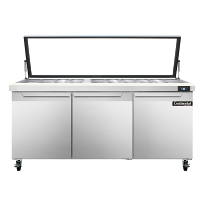 Continental Refrigerator SW72N30M-HGL refrigerated counter, mega top sandwich / salad unit