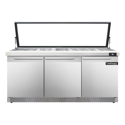Continental Refrigerator SW72-30M-HGL-FB refrigerated counter, mega top sandwich / salad unit