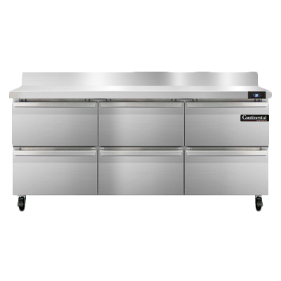 Continental Refrigerator SW72NBS-D refrigerated counter, work top