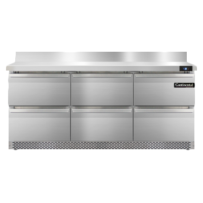 Continental Refrigerator SW72NBS-FB-D refrigerated counter, work top