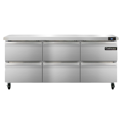 Continental Refrigerator SW72N-D refrigerated counter, work top