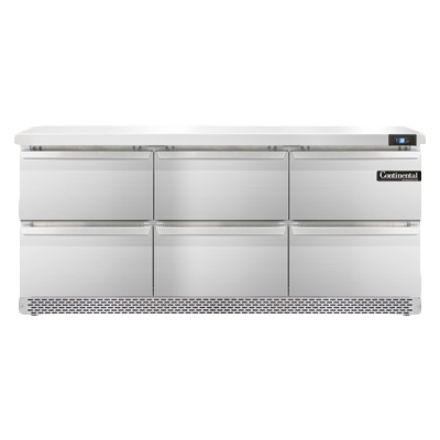 Continental Refrigerator SW72N-FB-D refrigerated counter, work top