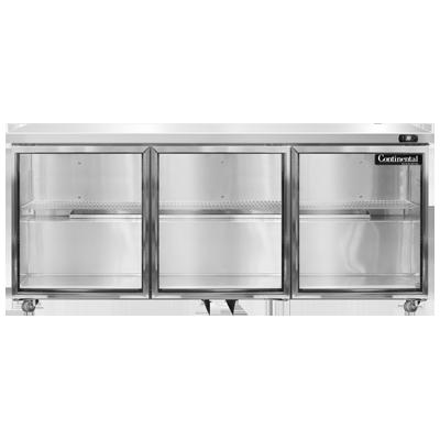 Continental Refrigerator SW72NGD-U refrigerator, undercounter, reach-in
