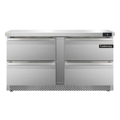 Continental Refrigerator SWF60N-FB-D freezer counter, work top