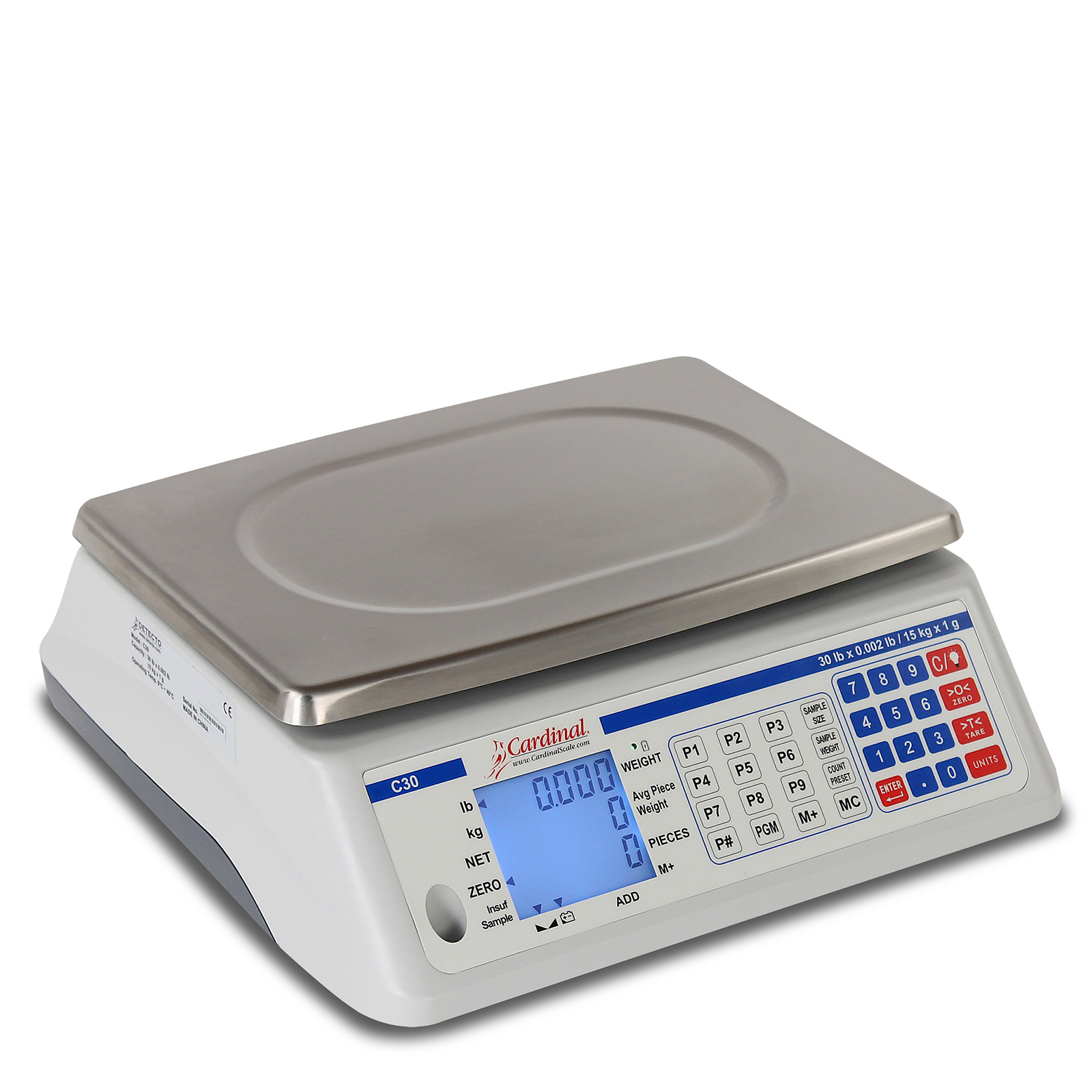 Detecto C100 scale, counting