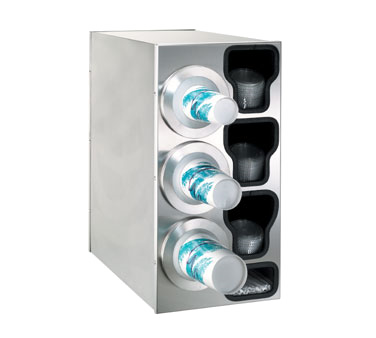 Dispense-Rite BFL-C-3LSS cup dispensers, countertop