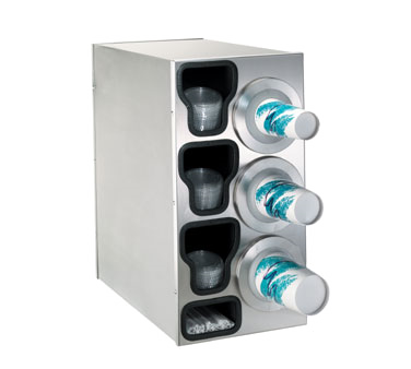 Dispense-Rite BFL-C-3RSS cup dispensers, countertop