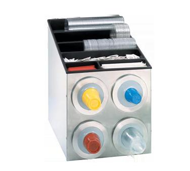 Dispense-Rite BFL-L-2X2SS cup dispensers, countertop