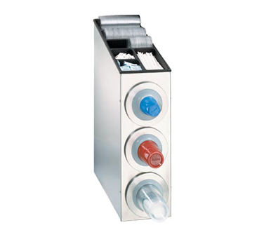 Dispense-Rite BFL-L-3SS cup dispensers, countertop