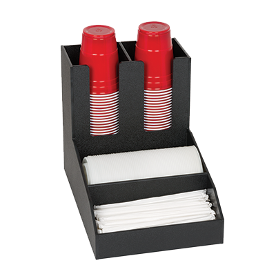 Dispense-Rite CLCO-2BT condiment caddy, countertop organizer
