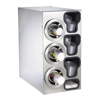 Dispense-Rite CTC-C-3LSS cup dispensers, countertop