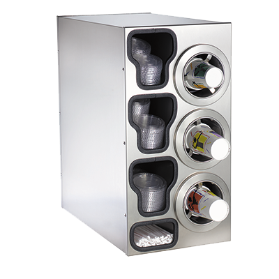 Dispense-Rite CTC-C-3RSS cup dispensers, countertop