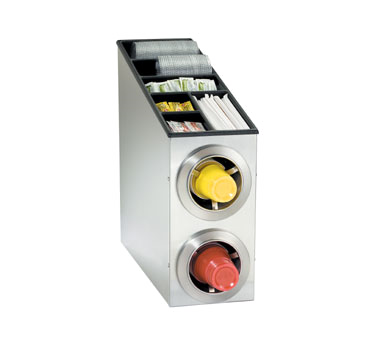 Dispense-Rite CTC-L-2SS cup dispensers, countertop