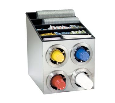 Dispense-Rite CTC-L-2X2SS cup dispensers, countertop