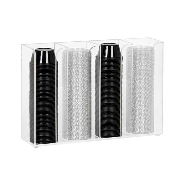 Dispense-Rite CTCO-4CL cup & lid organizer