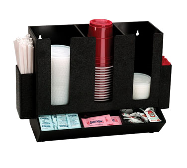 Dispense-Rite HLCO-3BT condiment caddy, countertop organizer