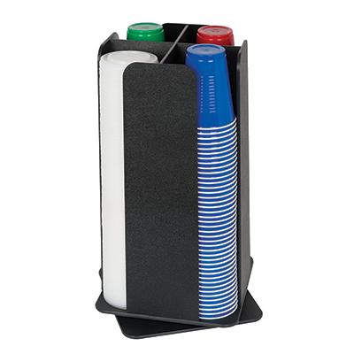 Dispense-Rite RCLO-LG-4BT cup dispensers, countertop