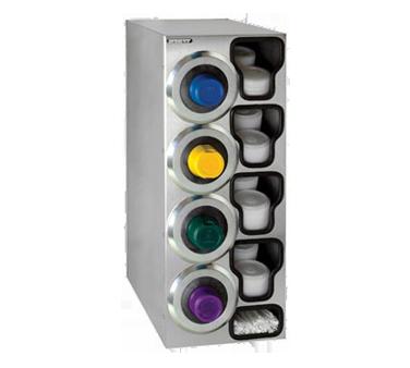 Dispense-Rite SLR-C-4LSS cup dispensers, countertop