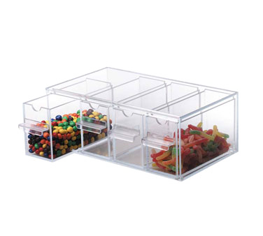 Dispense-Rite TD-4 food / topping storage display bin