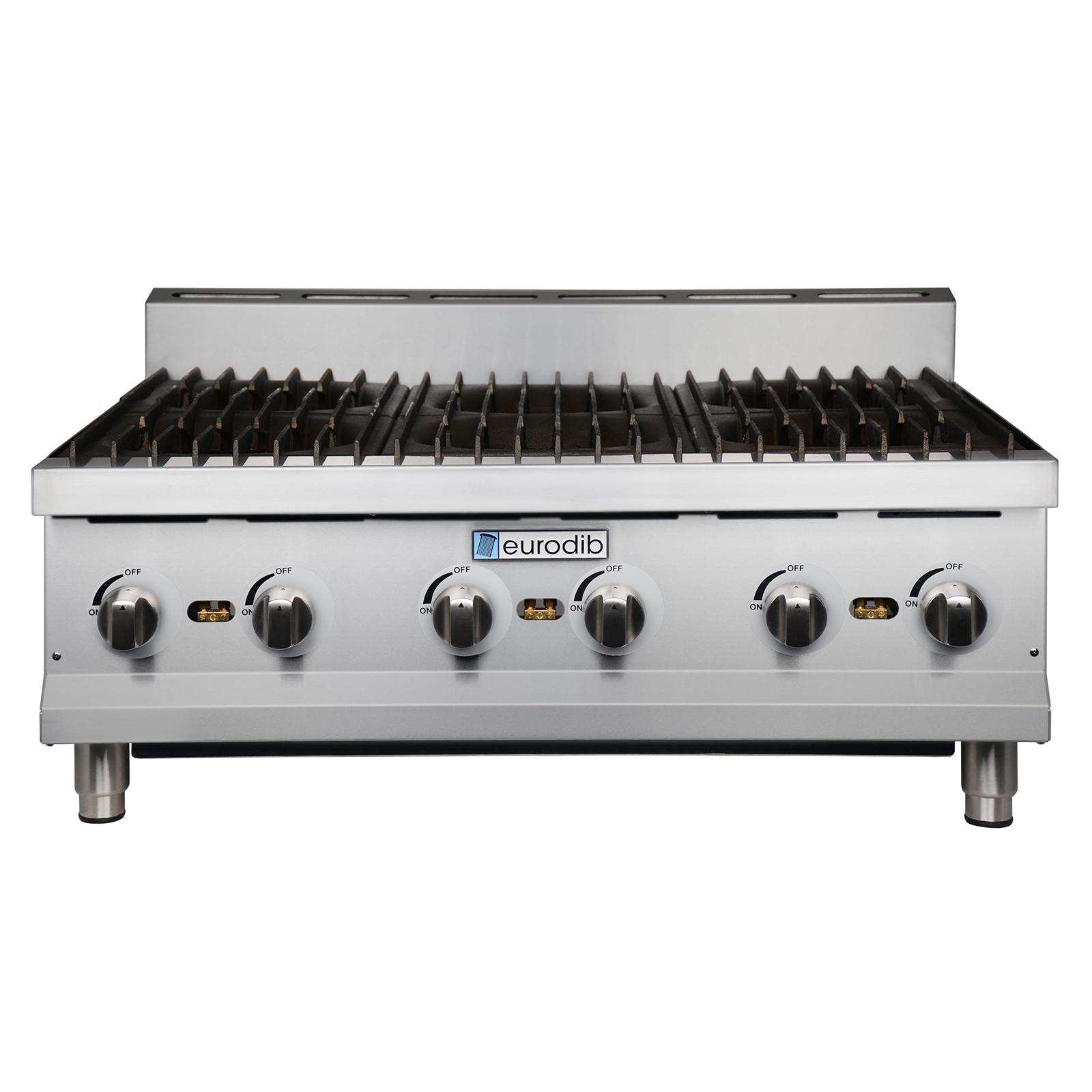 Eurodib USA T-HP636 hotplate, countertop, gas