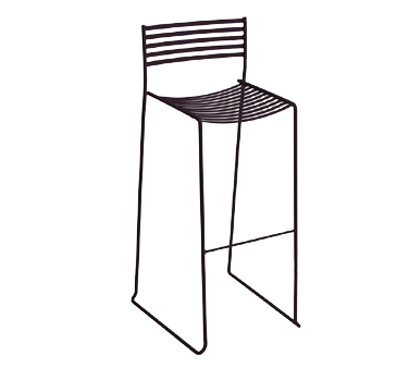 emuamericas, llc 024 bar stool, stacking, outdoor