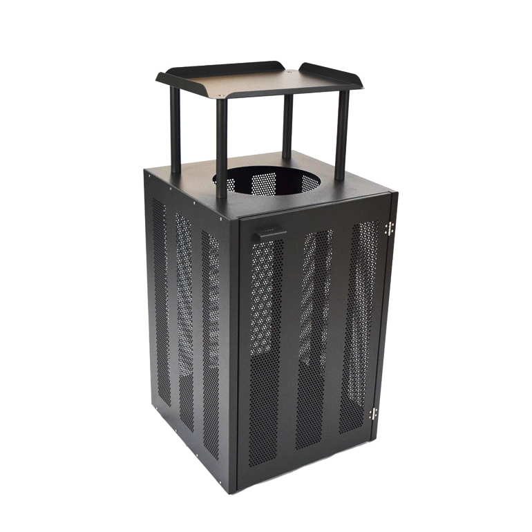 emuamericas, llc 886 trash receptacle, outdoor/indoor