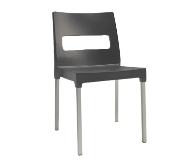 emuamericas, llc 9008 chair, side, stacking, outdoor