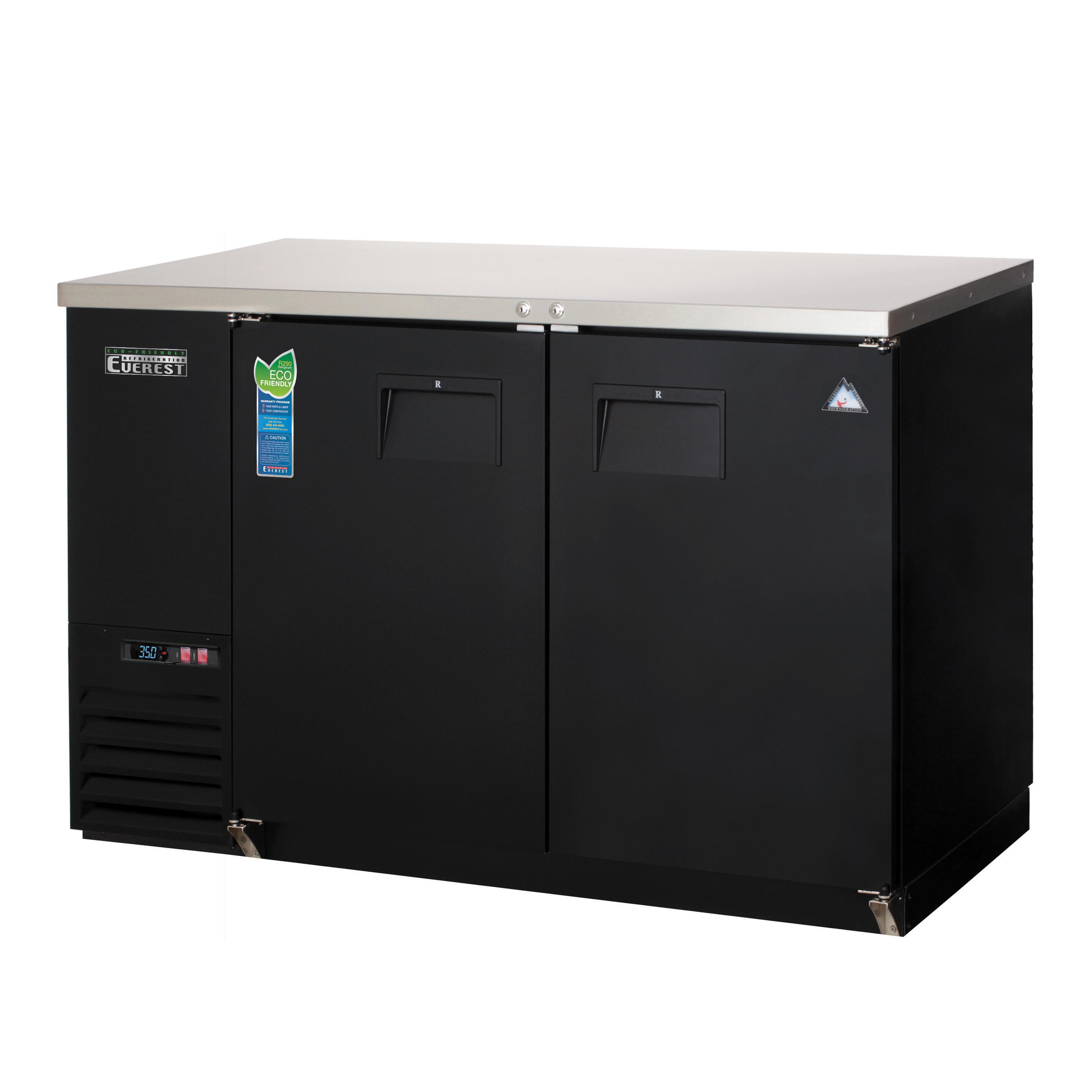 Everest Refrigeration EBB48-24 back bar cabinet, refrigerated