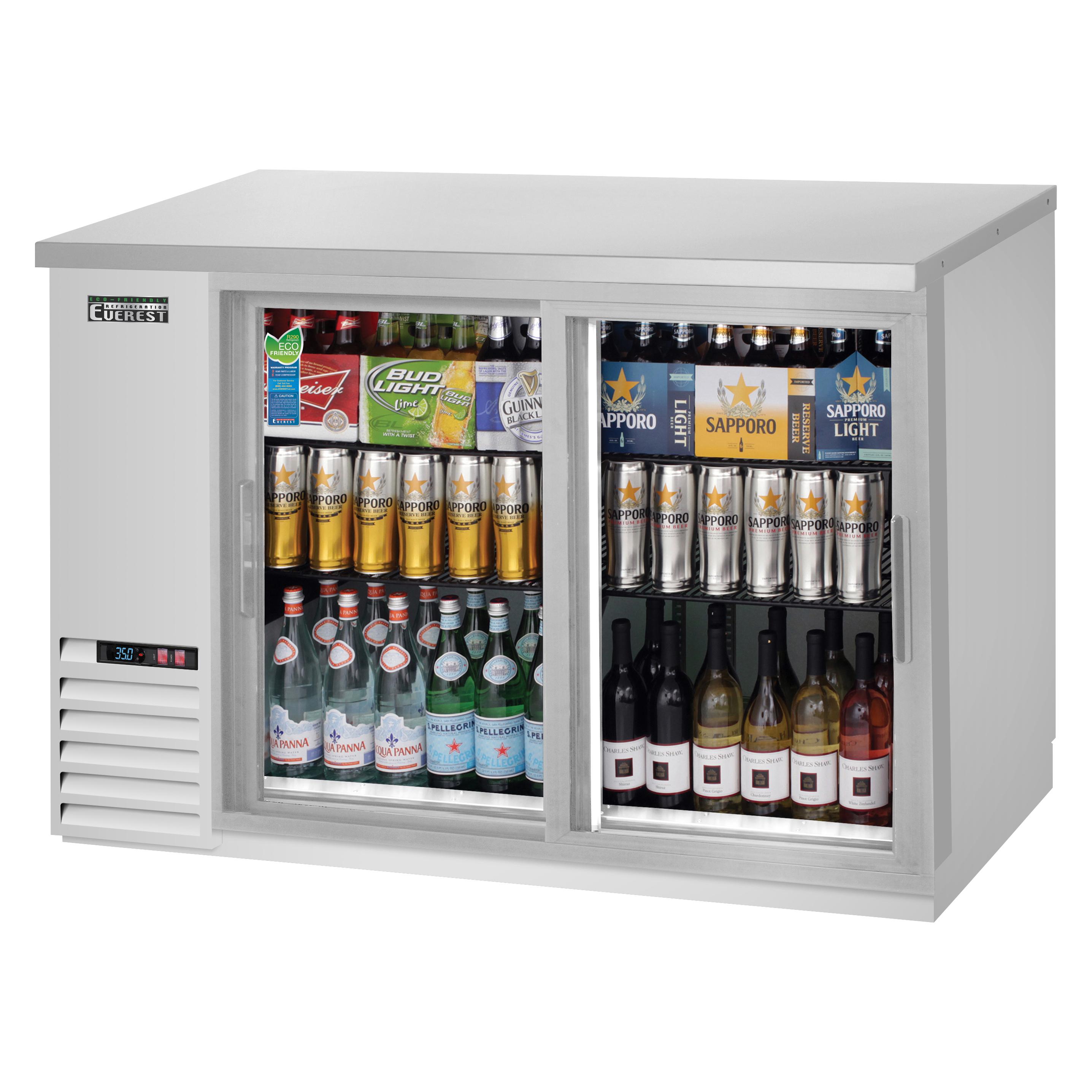 Everest Refrigeration EBB48G-SD-SS back bar cabinet, refrigerated