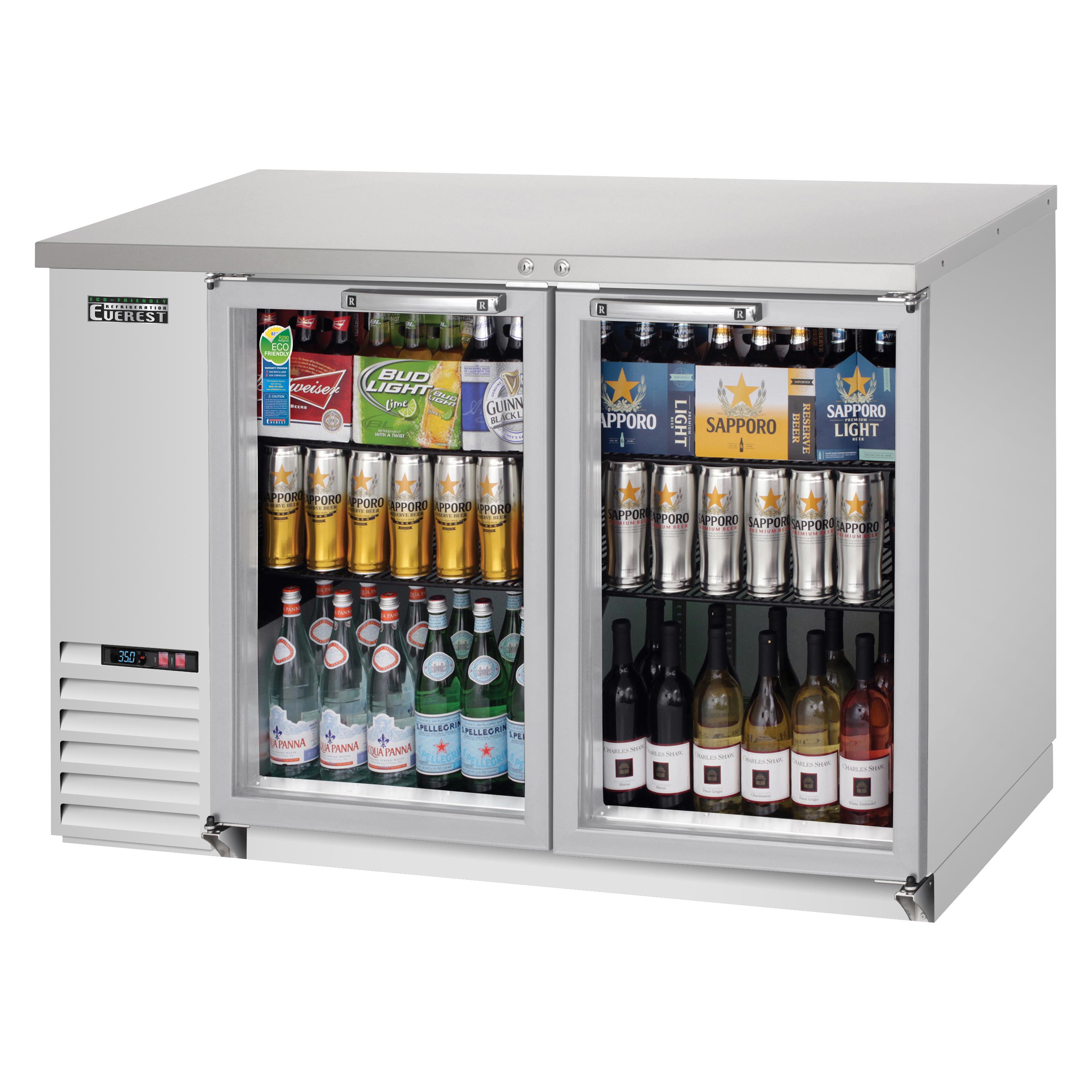 Everest Refrigeration EBB48G-SS back bar cabinet, refrigerated