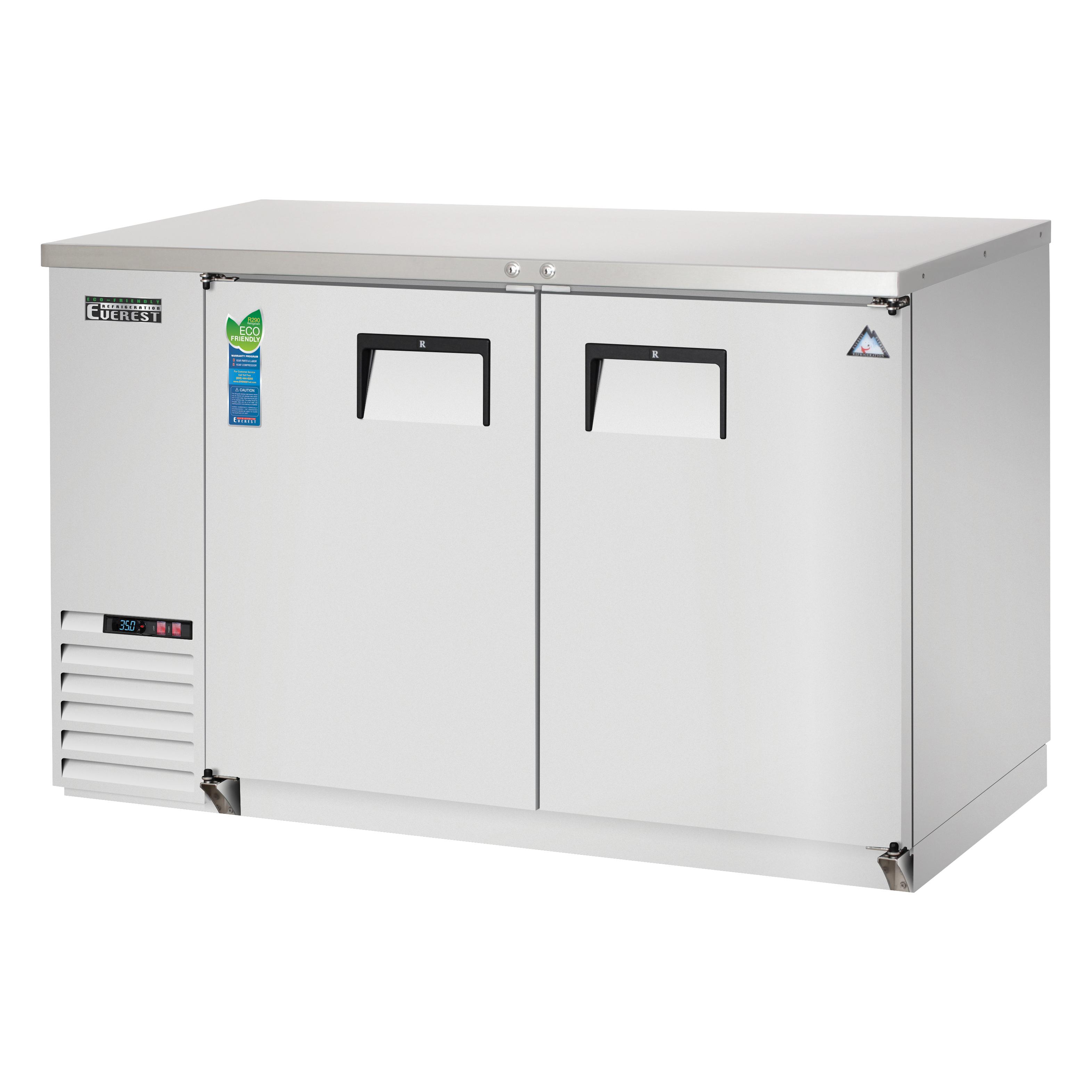 Everest Refrigeration EBB48-SS back bar cabinet, refrigerated
