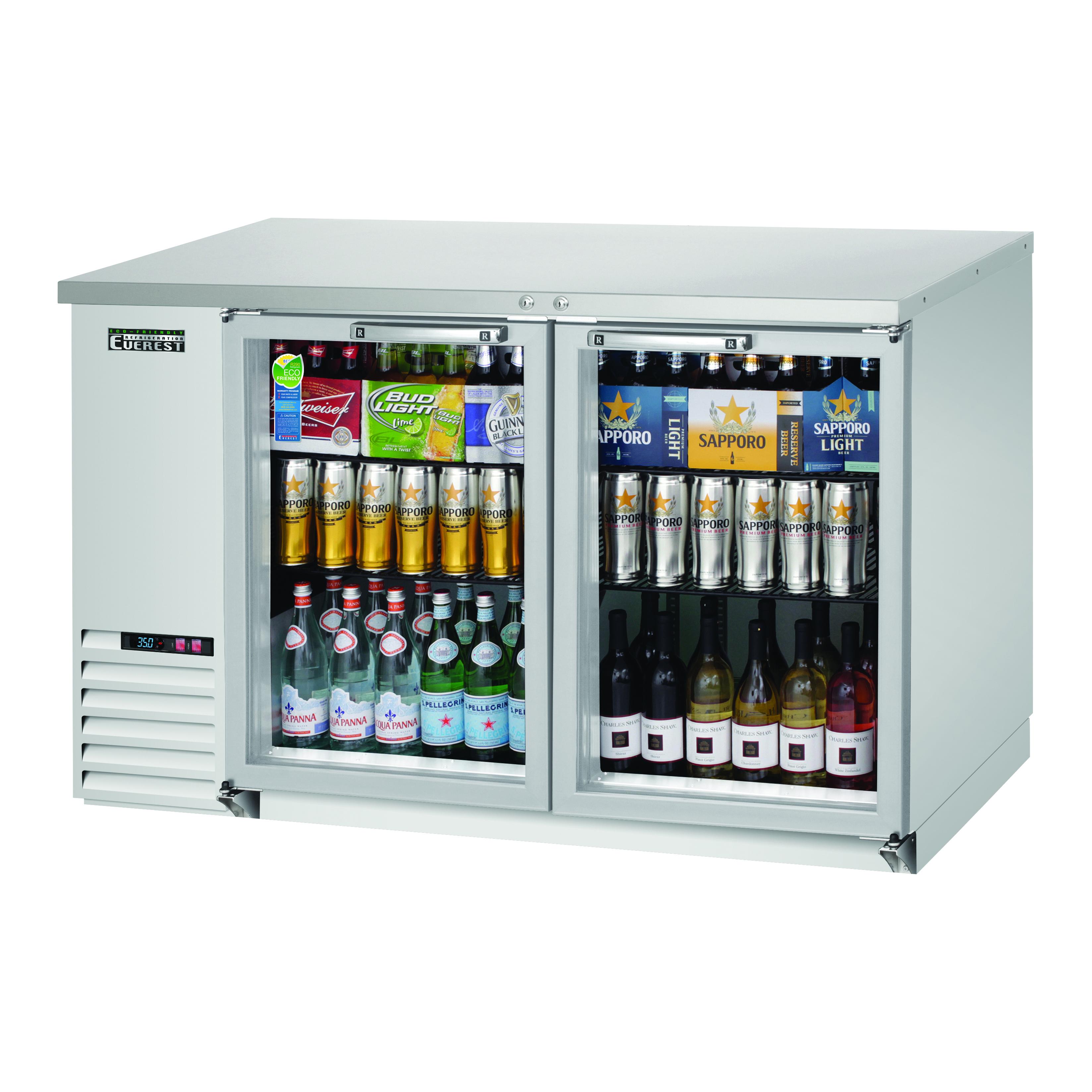 Everest Refrigeration EBB59G-SS back bar cabinet, refrigerated