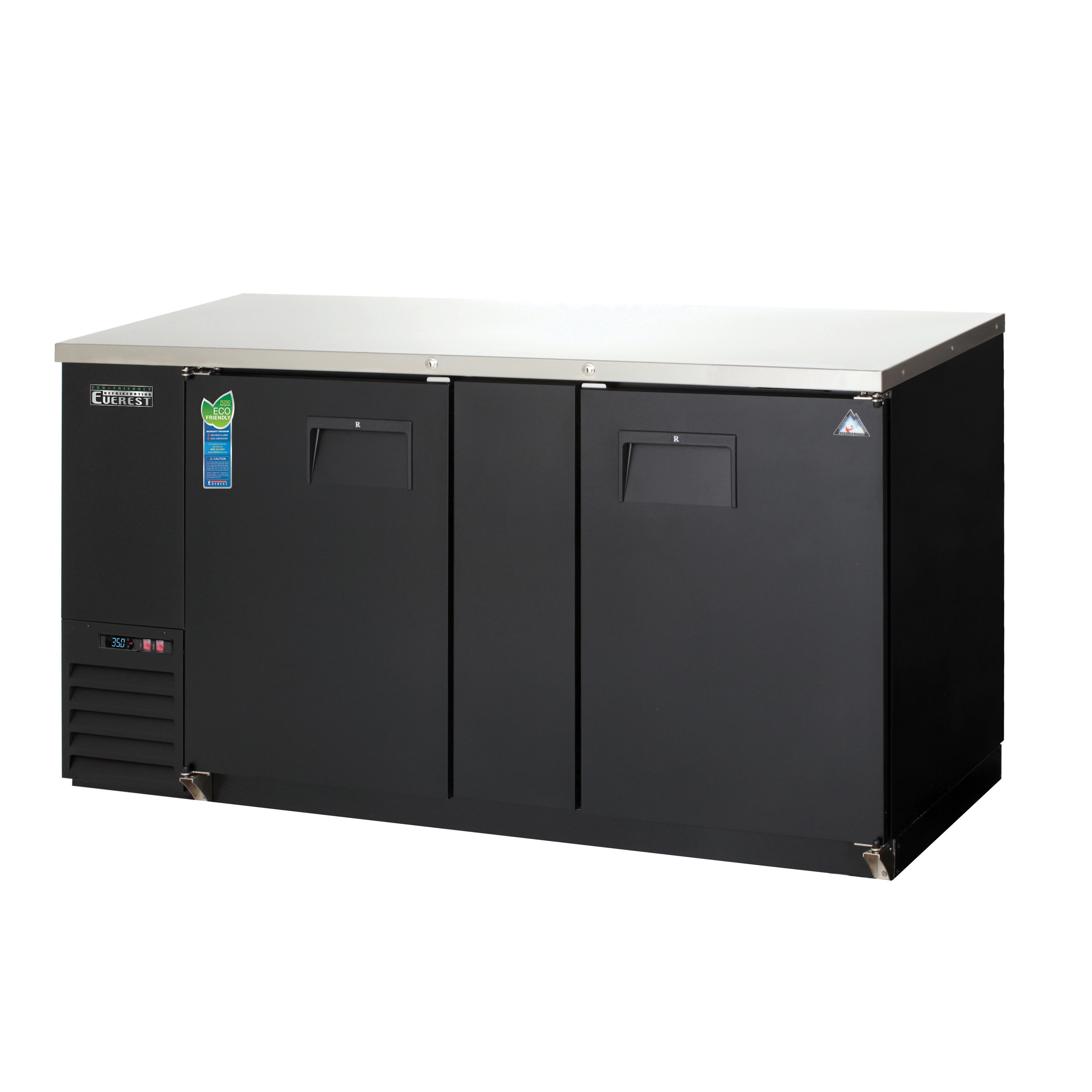 Everest Refrigeration EBB69 back bar cabinet, refrigerated