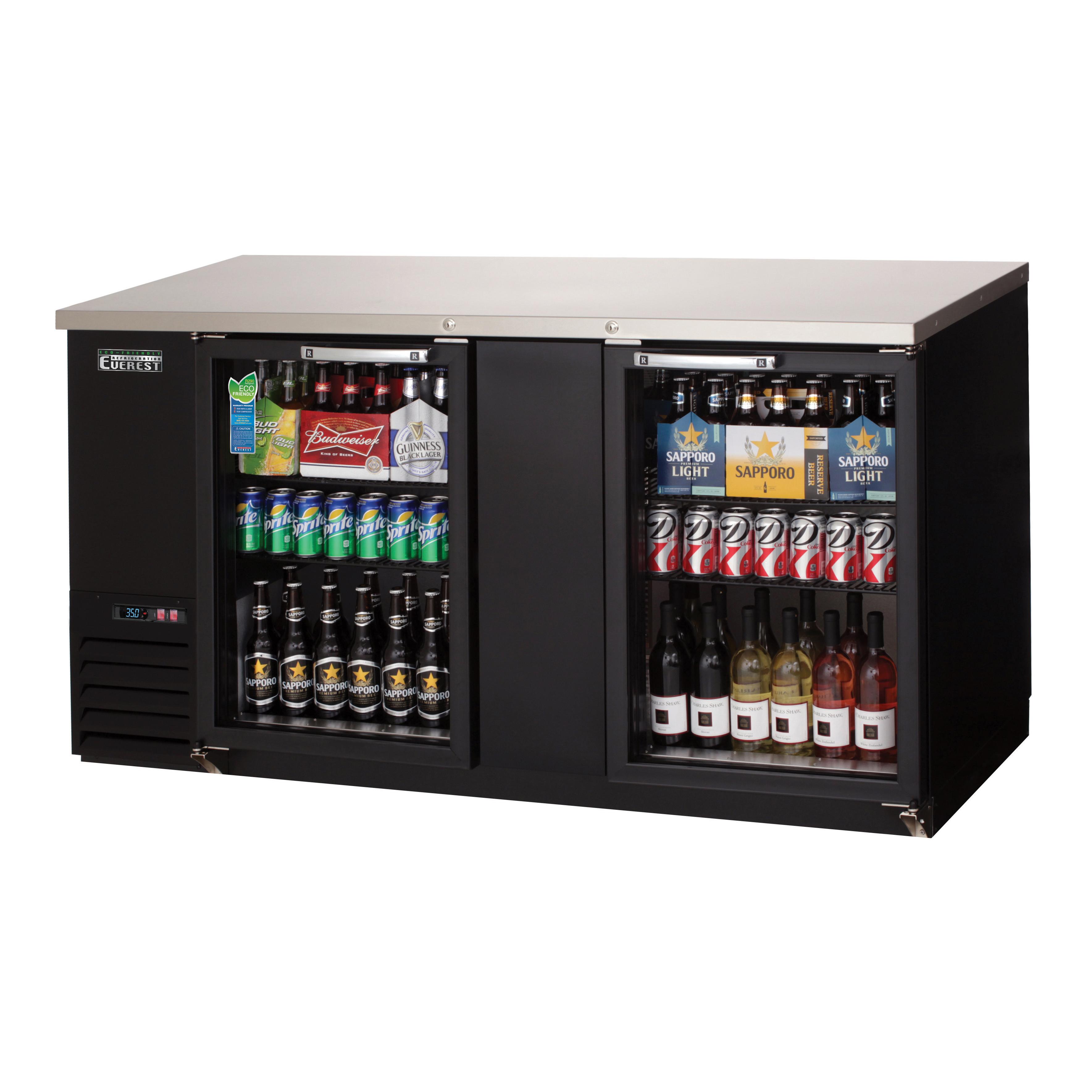 Everest Refrigeration EBB69G back bar cabinet, refrigerated