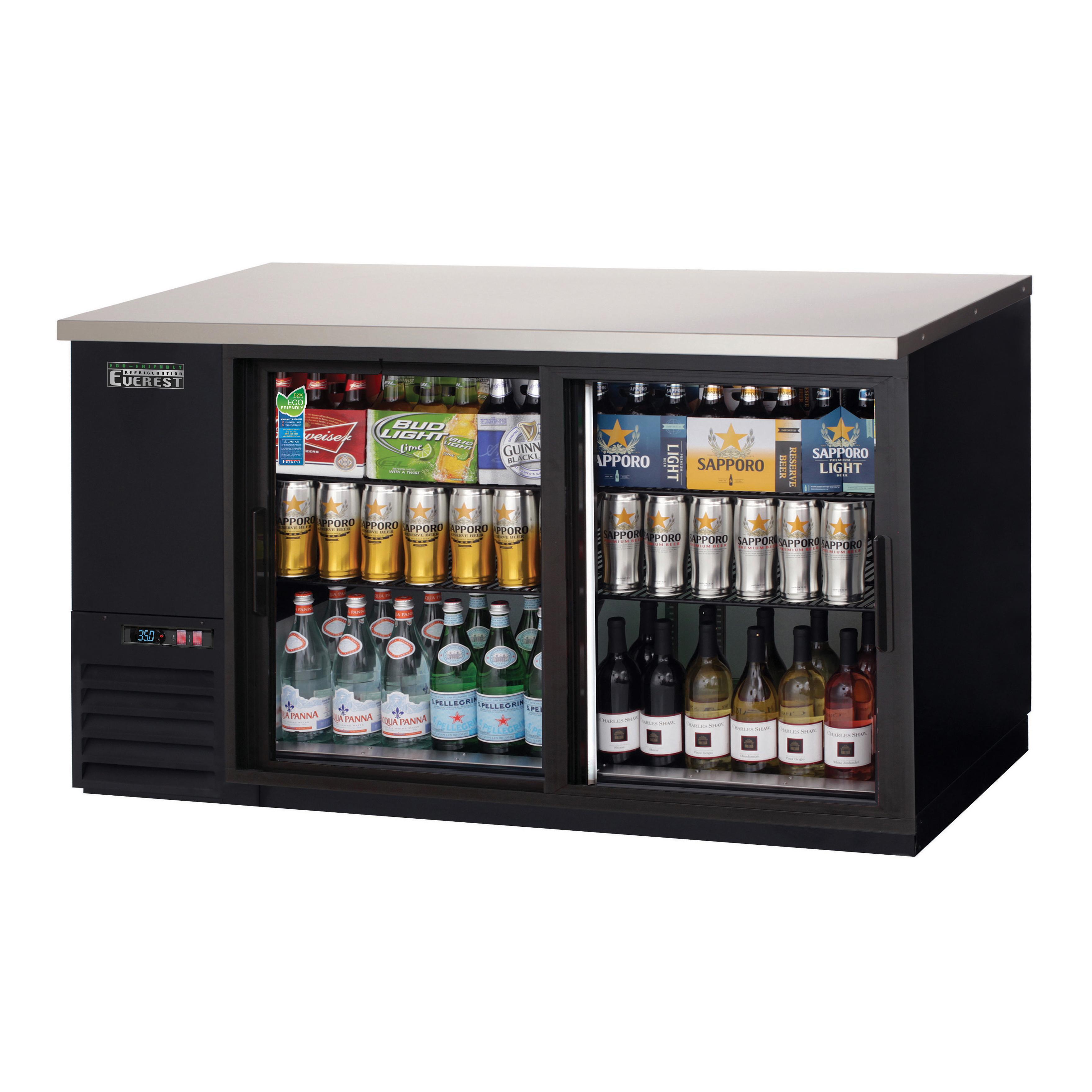Everest Refrigeration EBB69G-SD back bar cabinet, refrigerated