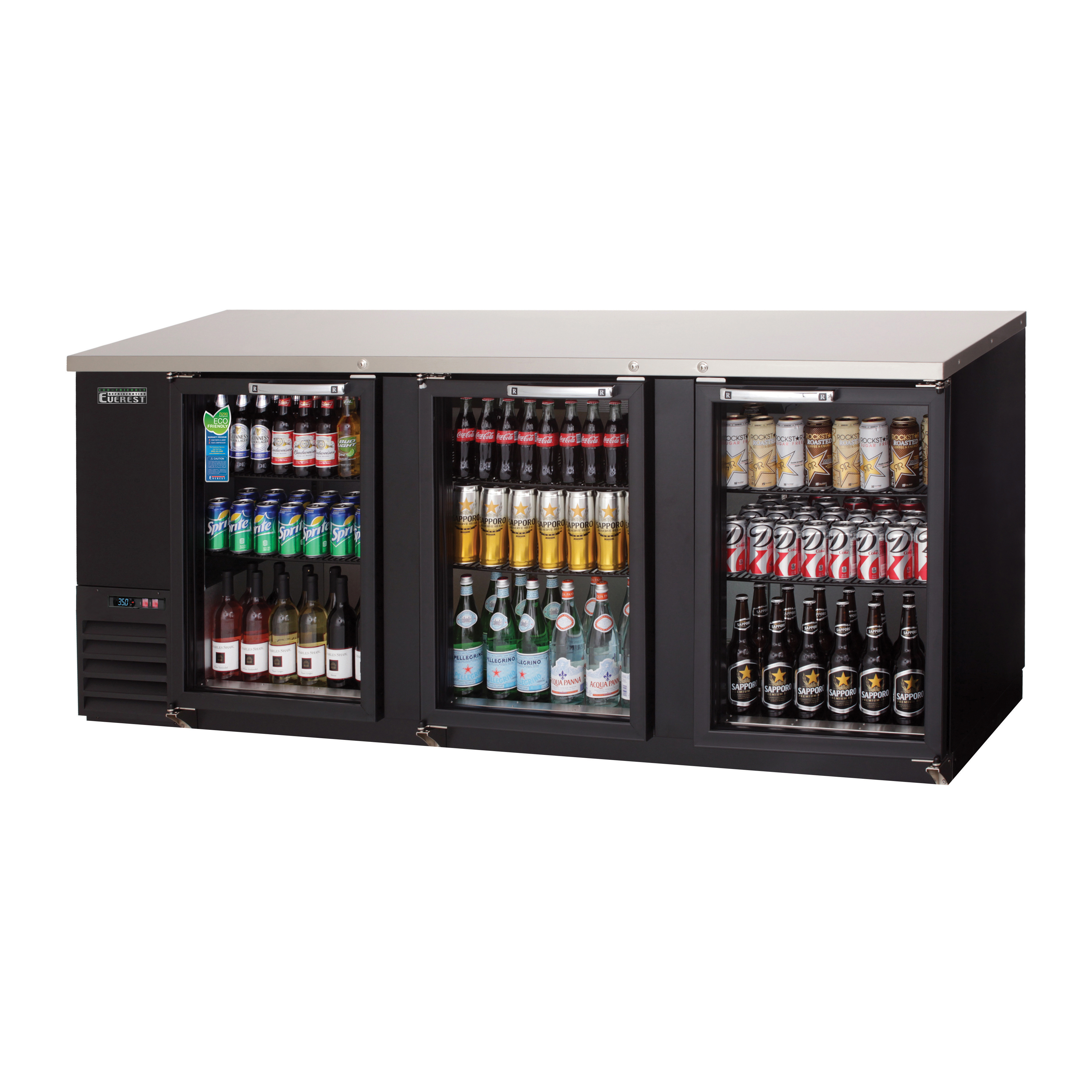 Everest Refrigeration EBB90G-24 back bar cabinet, refrigerated