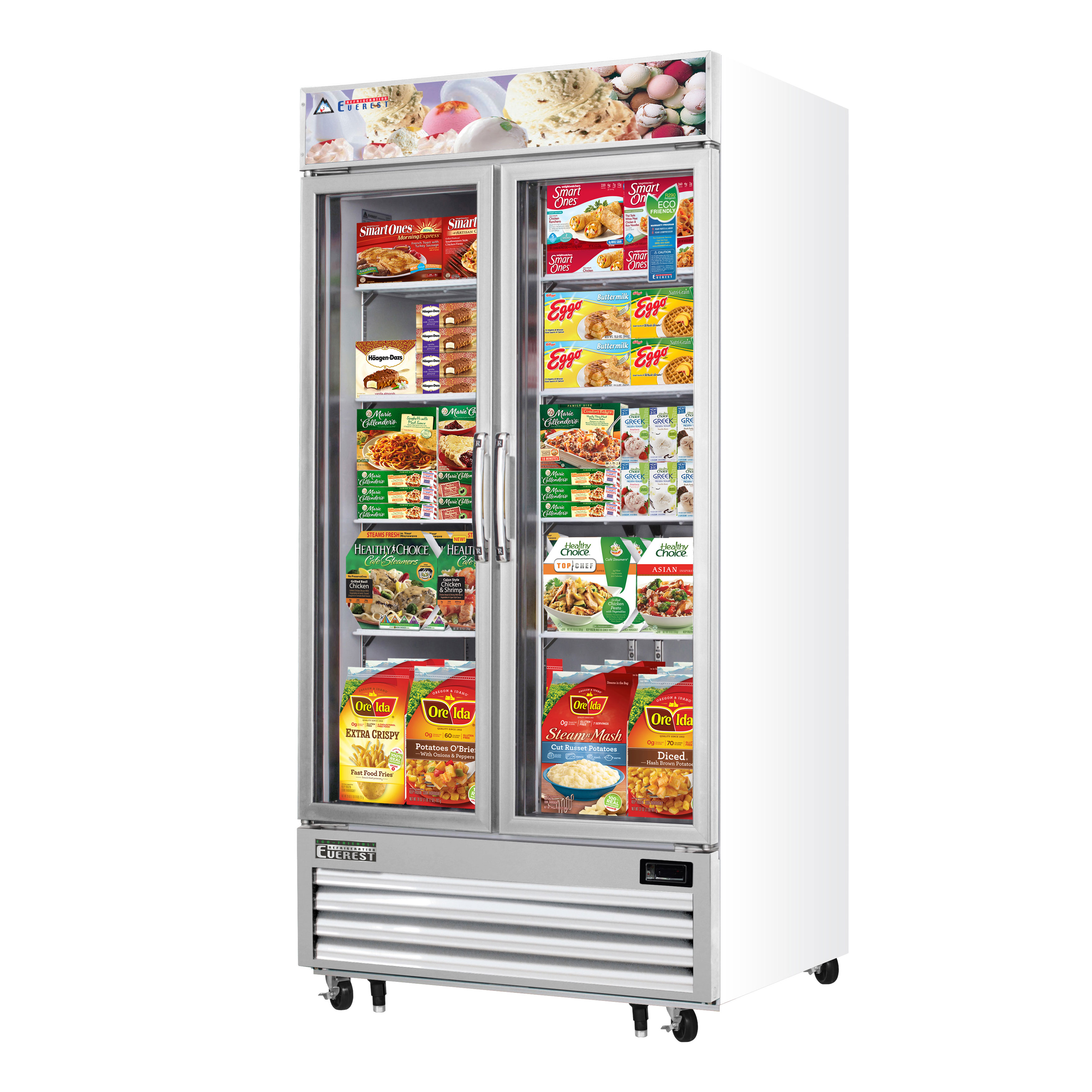 Everest Refrigeration EMGF36 freezer, merchandiser