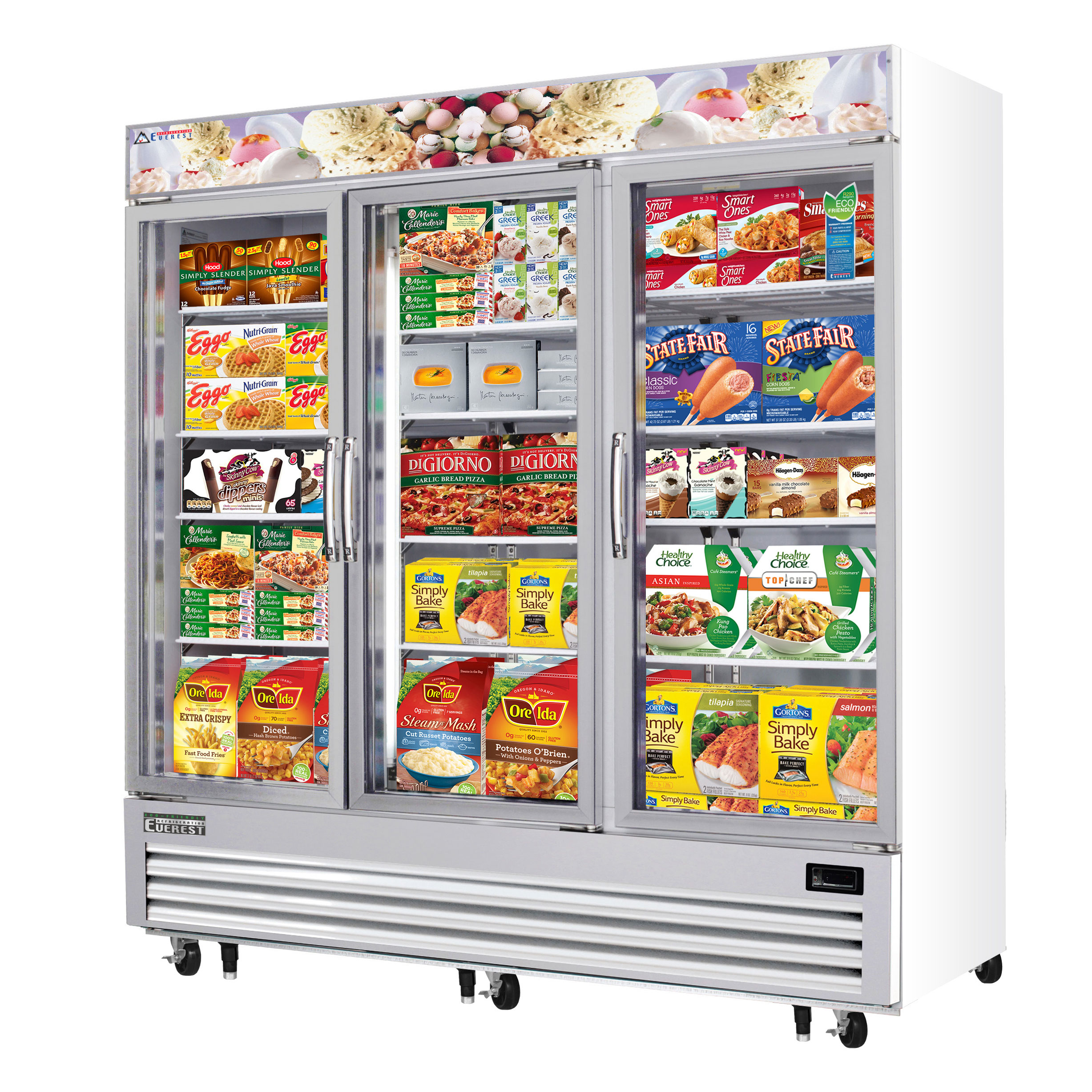 Everest Refrigeration EMGF69 freezer, merchandiser