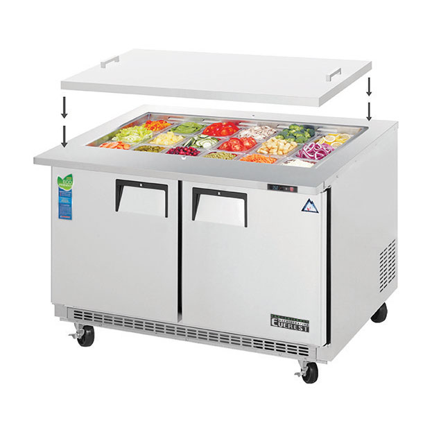 Everest Refrigeration EOTP2 refrigerated counter, mega top sandwich / salad unit