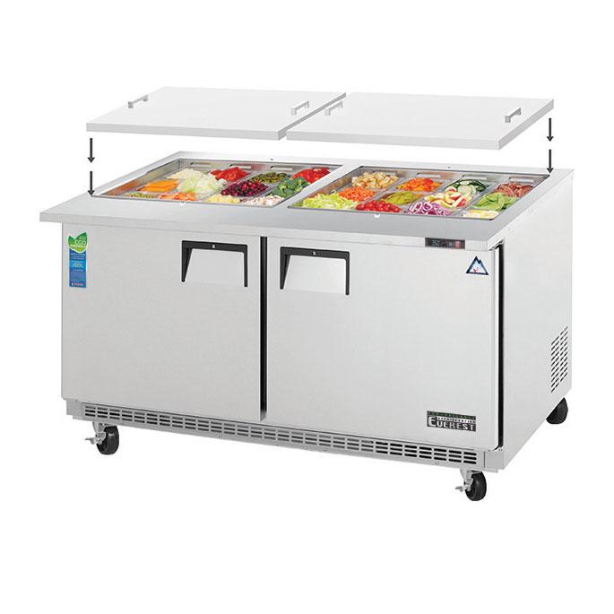 Everest Refrigeration EOTPW2 refrigerated counter, mega top sandwich / salad unit