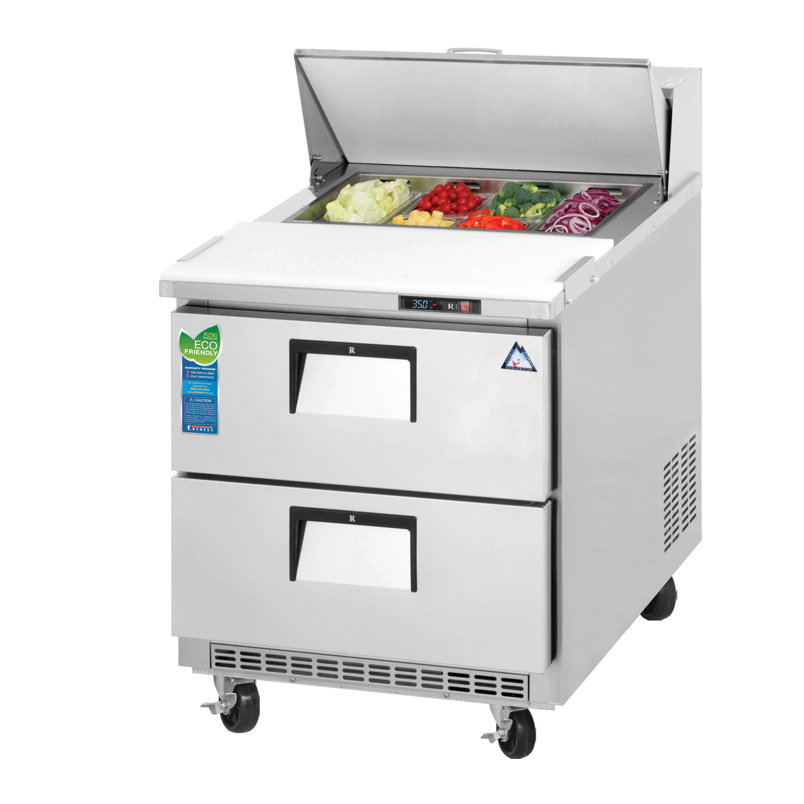 Everest Refrigeration EPBNR1-D2 refrigerated counter, sandwich / salad unit