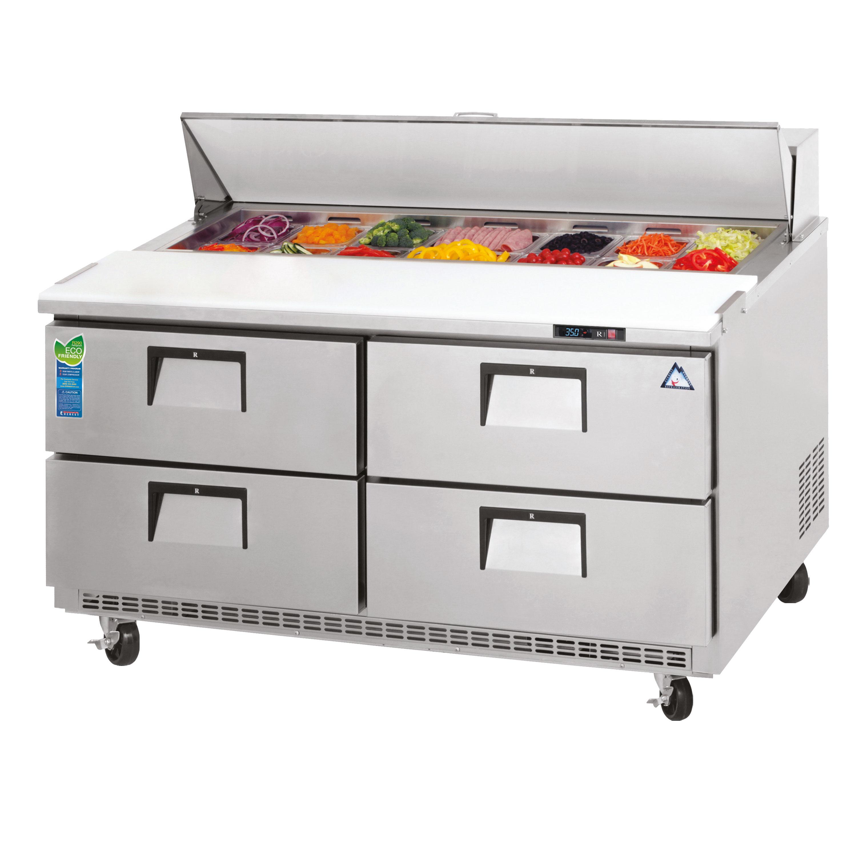 Everest Refrigeration EPBNR2-D4 refrigerated counter, sandwich / salad unit