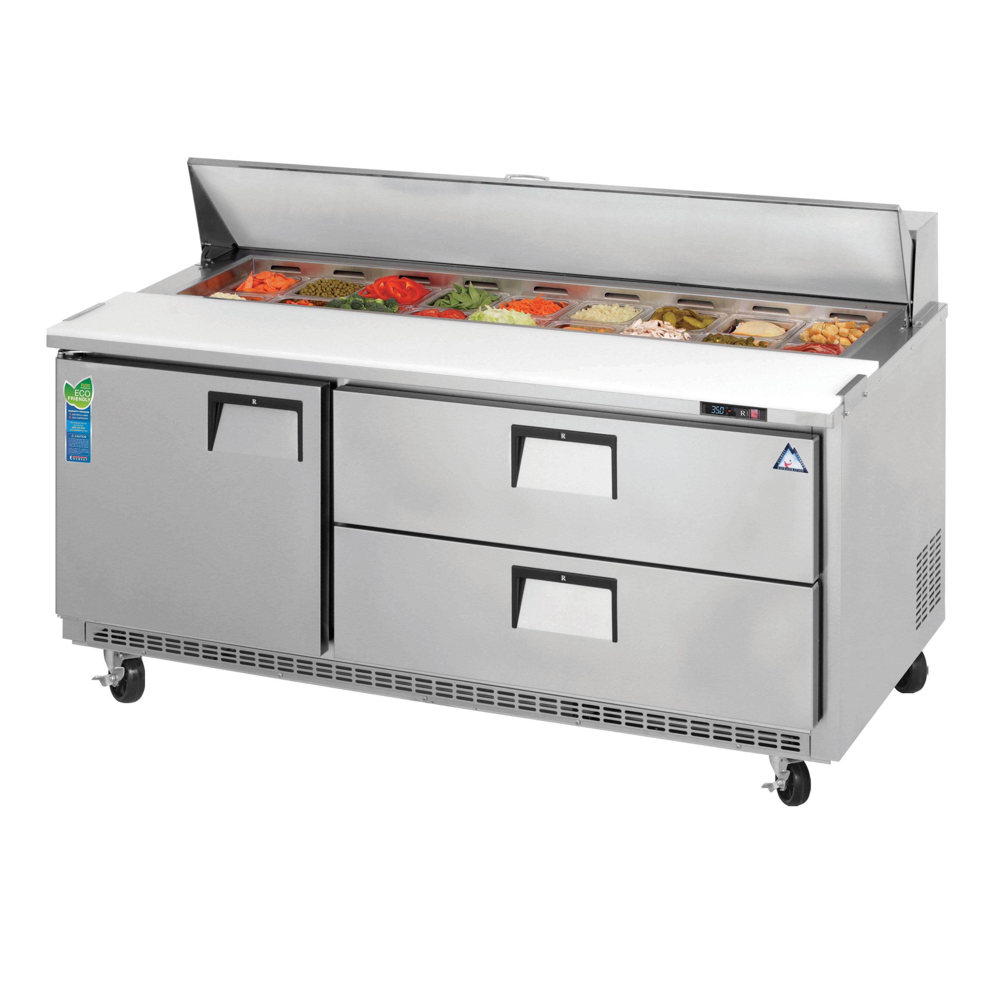 Everest Refrigeration EPBNR3-D2 refrigerated counter, sandwich / salad unit