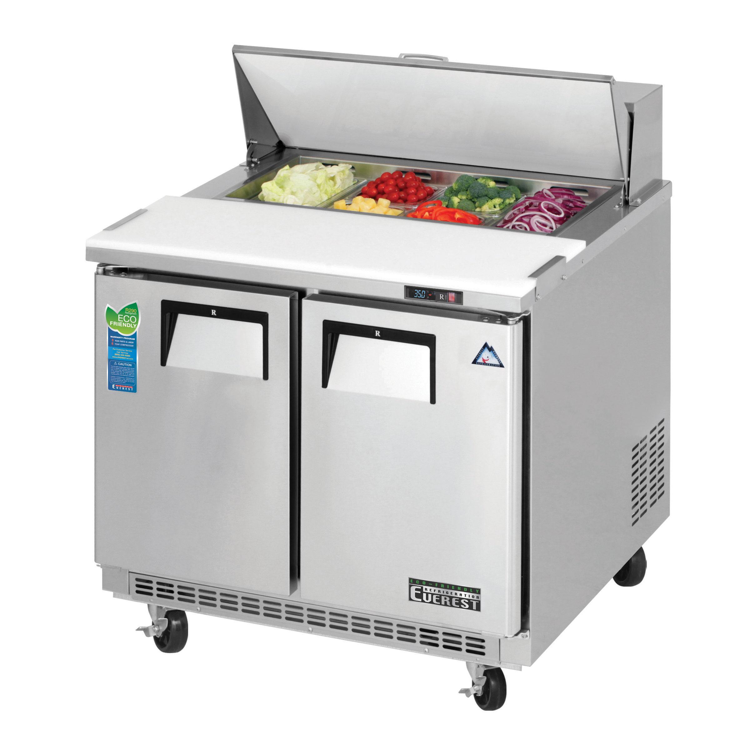 Everest Refrigeration EPBNSR2 refrigerated counter, sandwich / salad unit