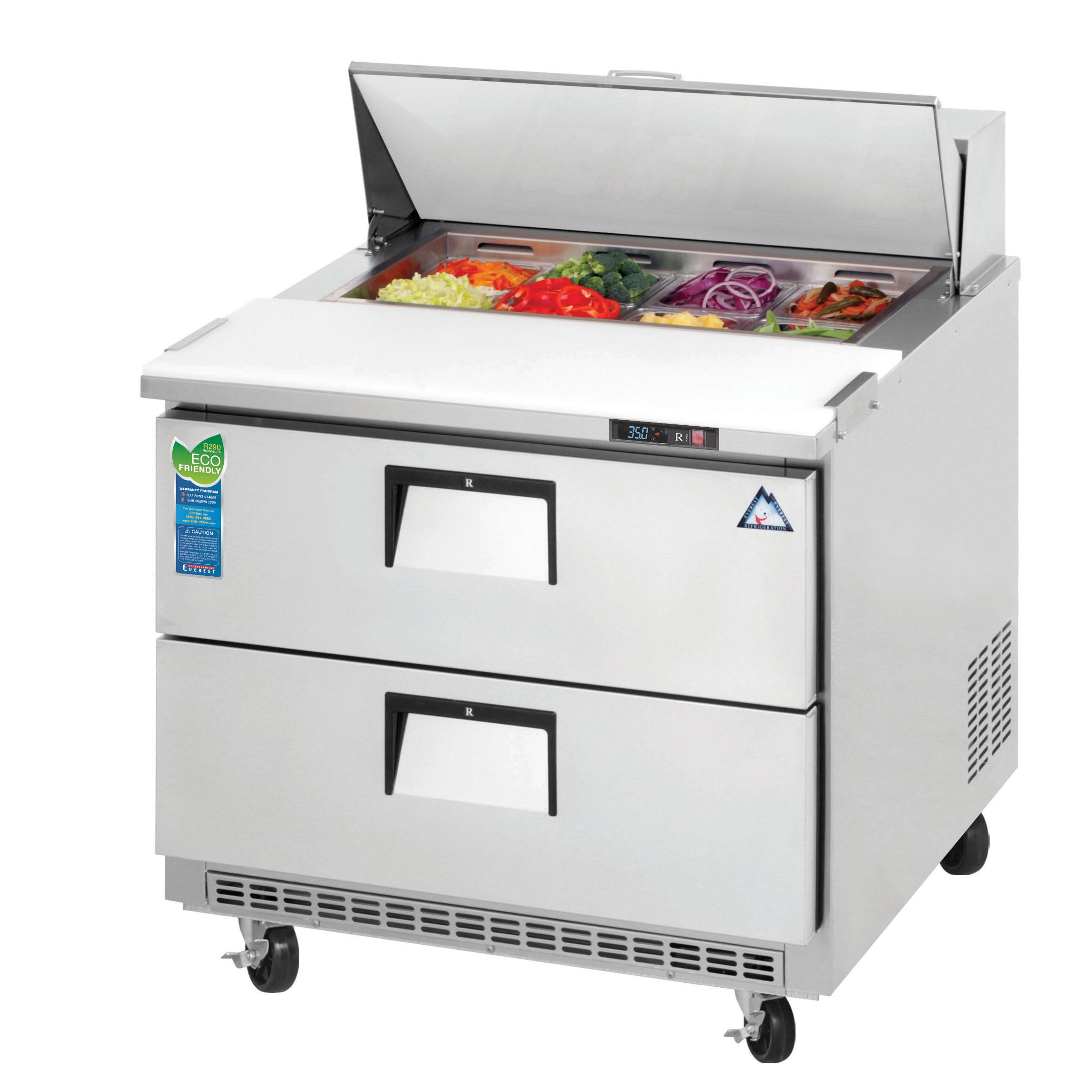Everest Refrigeration EPBNSR2-D2 refrigerated counter, sandwich / salad unit