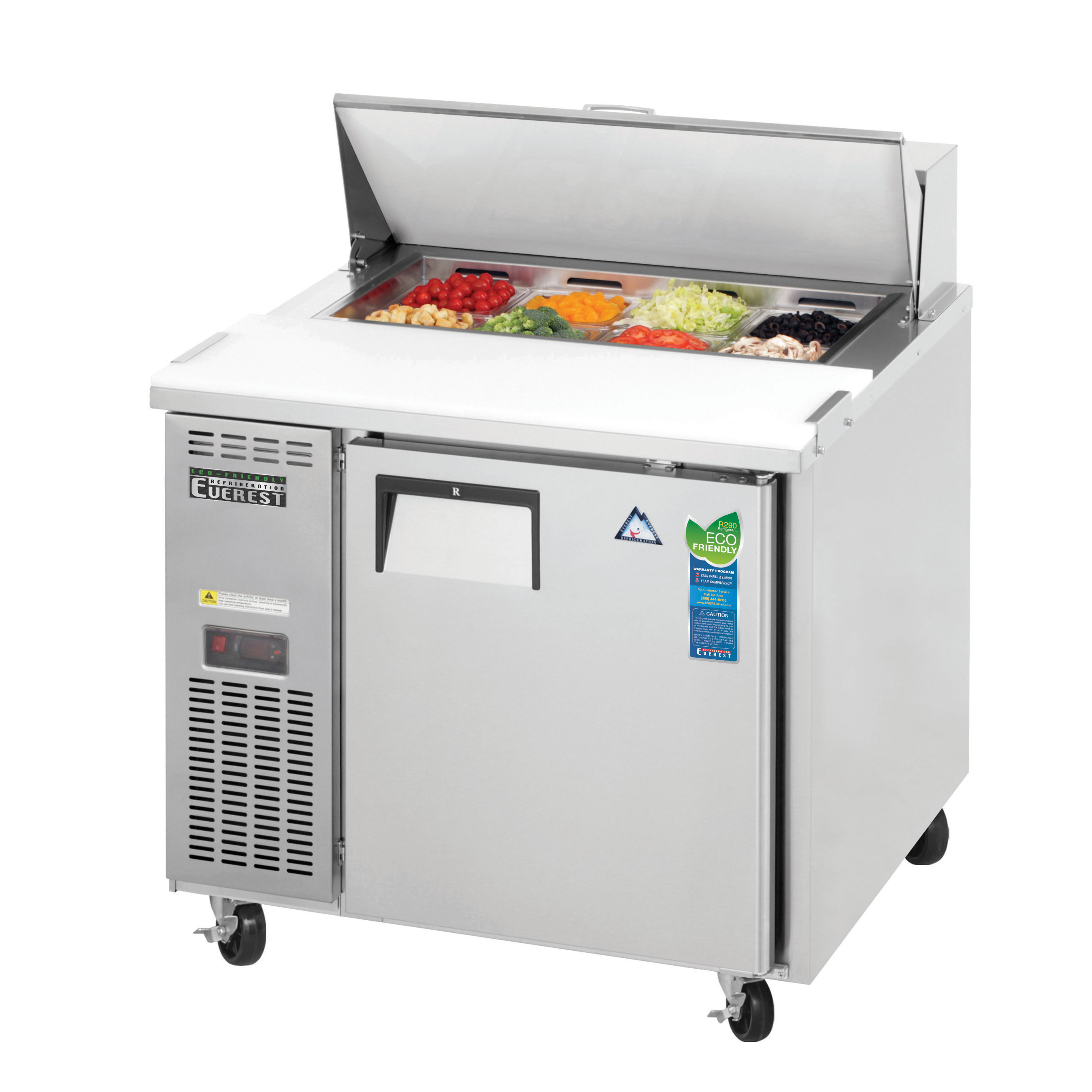 Everest Refrigeration EPR1 refrigerated counter, sandwich / salad unit