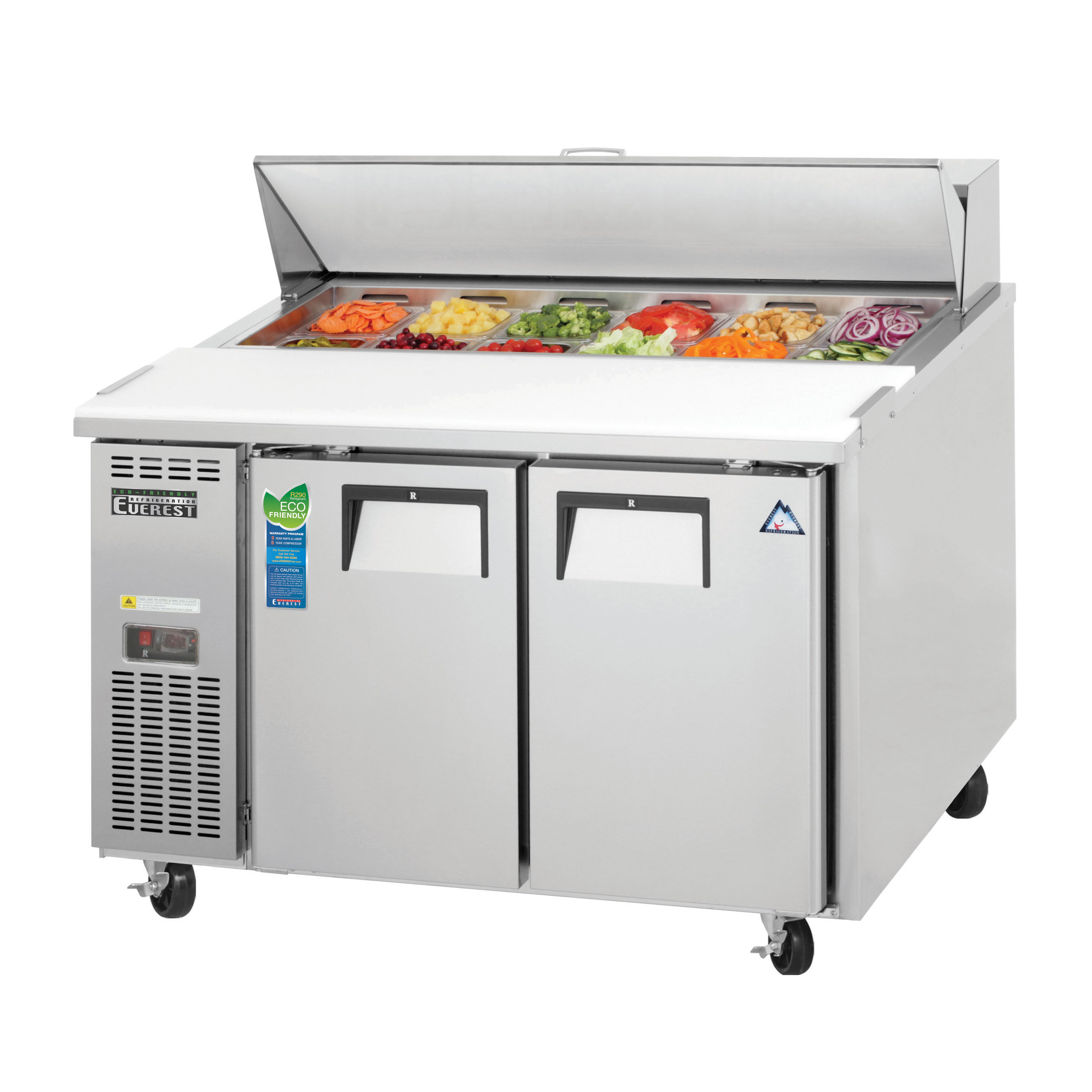 Everest Refrigeration EPR2 refrigerated counter, sandwich / salad unit