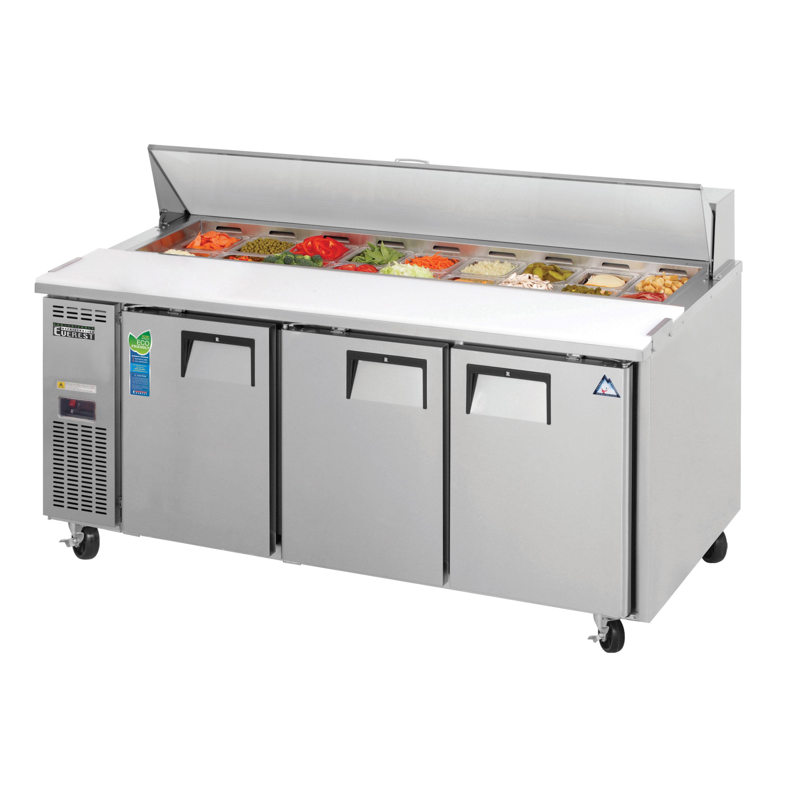 Everest Refrigeration EPR3 refrigerated counter, sandwich / salad unit